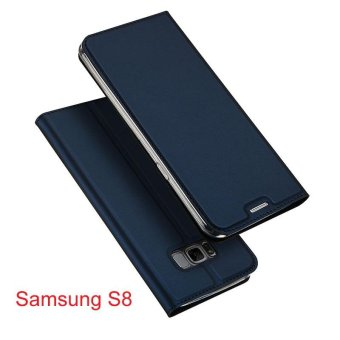 New Crashproof Flip Leather Magnet Phone Case for Samsung S8 - intl