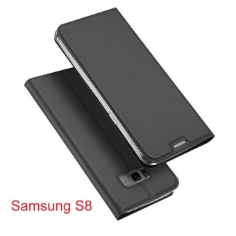 New Crashproof Flip Leather Magnet Phone Case for Samsung S8 - intl Price Philippines