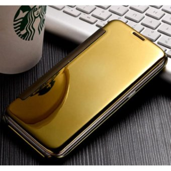 NEW Double View plated mirror holster flip phone case mirror case for Samsung Galaxy A9 PRO - intl