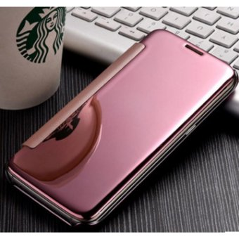 NEW Double View plated mirror holster flip phone case mirror casefor Samsung Galaxy A9 PRO - intl