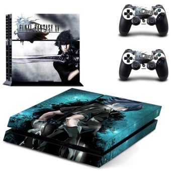 new Final Fantasy XV decal PS4 Skin Sticker For Sony Playstation 4Console protection film +2Pcs Controllers protective cover - intl