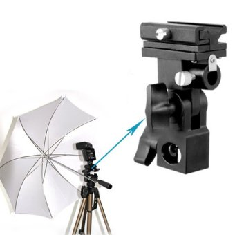 New Flash Hot Shoe Adapter Trigger Umbrella Holder Swivel LightStand Bracket B - 5