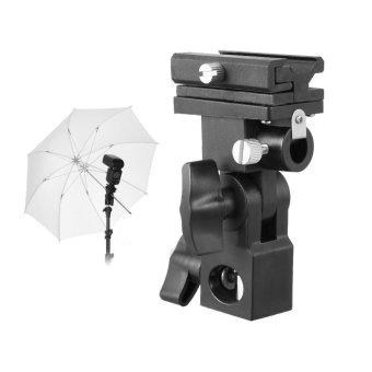 New Flash Hot Shoe Adapter Trigger Umbrella Holder Swivel LightStand Bracket B - 2