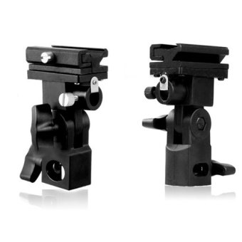 New Flash Hot Shoe Adapter Trigger Umbrella Holder Swivel LightStand Bracket B