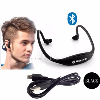 New Generation S9 Sports Wireless Bluetooth Stereo EarphoneHeadphones In-ear Headset Neckband for iPhone 7 Plus/iPhone6SPlus/SE/5S/ for Samsung Android Mobile Phones(Black)