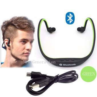 New Generation S9 Sports Wireless Bluetooth Stereo EarphoneHeadphones In-ear Headset Neckband for iPhone 7 Plus/iPhone6SPlus/SE/5S/ for Samsung Android Mobile Phones(Green)