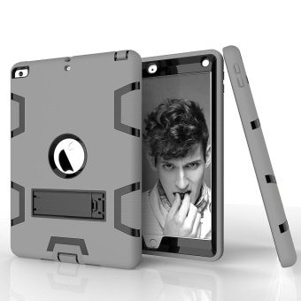New iPad 2017 Case,Tina Shop Three Layer Kickstand Armor Defender Heavy Duty High Impact Resistant Shock-Absorption Full Body Rugged Hybrid Protective Case for Apple New iPad 9.7 inch - intl