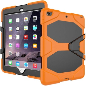 New iPad 9.7 Inch 2017 Case Heavy Duty Shockproof Hybrid ScreenProtector Rugged Rubber Protective Stand Case for Apple iPad 9.72017 5th Generation - intl