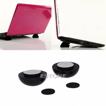 NEW Laptop Notebook Cooler Cool Ball Stand + Skidproof Pad - intl