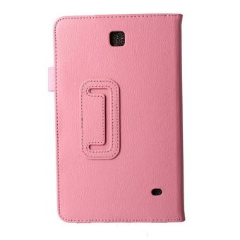 New Leather Stand Cover for Samsung Galaxy Tab 4 8.0 (Pink)