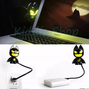 New LED Creative Batman USB Lamp Bank Small Night Light CuteSuperhero - intl
