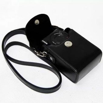 NEW Luxury Camera Leather Case Bag for SONY Cyber-shot DSC-RX100 IIIII IV RX100 M3 M4 M2 RX100MIII RX100III Camera Bags CasesColor:Black - Intl Price Philippines