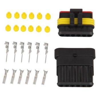 New Male & Female Waterproof Connector Plug 1 Kit 1.5mm Car Truck 6 Pin (Intl)