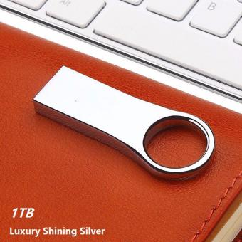 New Metal USB Flash Drive 2.0 High Speed Key Ring USB Memory Storage (Size: 1TB Color: Silver) - intl