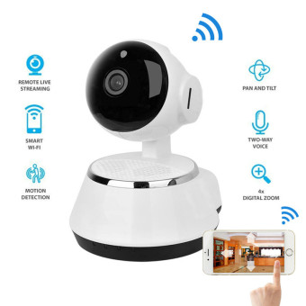 New ! Pan Tilt Wireless IP Camera WIFI 720P CCTV Home Security CamMicro SD Slot Support Microphone & P2P Free APP ABS Plastic -intl
