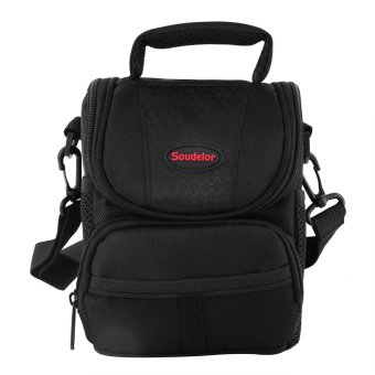 New Style Shockproof DSLR Case Outdoor Travelling Camera Messenger Shoulder Bag(Black) - intl