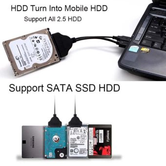 NEW USB3.0 to 2.5 inch HDD SATA Hard Drive Cable Adapter for SATA3.0 SSD&HDD