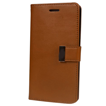 New Wallet Flip PU Leather Phone Case Cover For Apple iPhone 5 / 5s(Brown)