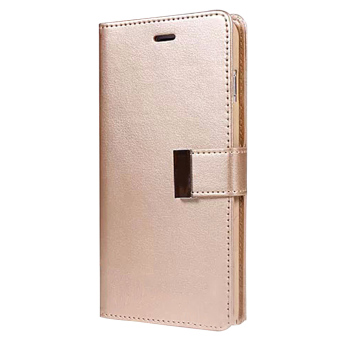 New Wallet Flip PU Leather Phone Case Cover For Apple iPhone 5 / 5s(Gold)