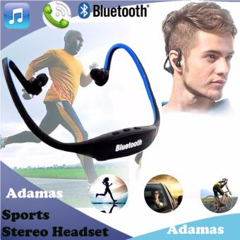 New Wireless Bluetooth Sports Stereo Music Headset (Black/Blue)