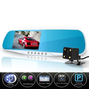 Newest Night Vision Car Camera Dvr Blue Review Mirror Digital Video Recorder Auto Registrator Camcorder Dash Cam Full HD 1080P - intl