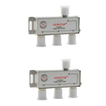 Newstar NTS-913-2 TV Signal Splitter 3 Way 5-1000MHz w/ ConnectorsPackage