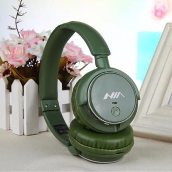 Nia Q1 108dB 4 in 1 Over-The-Ear Bluetooth Wireless Headphones (Navy Green)