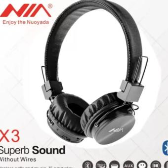 NIA-X-3 4 in 1 Bluetooth Stereo Headset (Black)