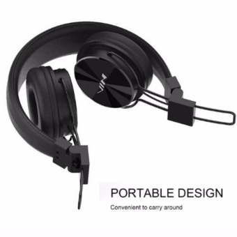 Nia X3 Headset 108dB 4 in 1 Collapsible Wireless Bluetooth Over theEar Headphone Black with free Micro USB OTG USB Connector For YourSmart Phone/Pad (color may vary)