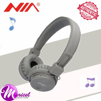Nia X3 Superb-Sound Heavy-Duty 4-in-1 Wireless BluetoothOver-the-Ear Stereo Headset with Mic/FM Radio/TF Slot (Gray)