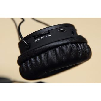 Nia X3 Superb Sound Wireless Calls and Music, TF card play, FMRadio,Audio input 4 in 1 Head Phones - 4