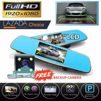 NIA XH405 VEHICLE BLACKBOX DVR Car Camera 5 Inch DVRs With Dual Camera Lens Full HD 1080P 30FPS Video Registratory Rearview Mirror Dashcam Night Vision