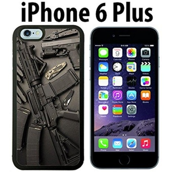 Nice Weapons Rifle Guns Ammo Custom made Case/Cover/skin FOR iPhone6 Plus - Black - Rubber Case ( Ship From CA) - intl Price Philippines