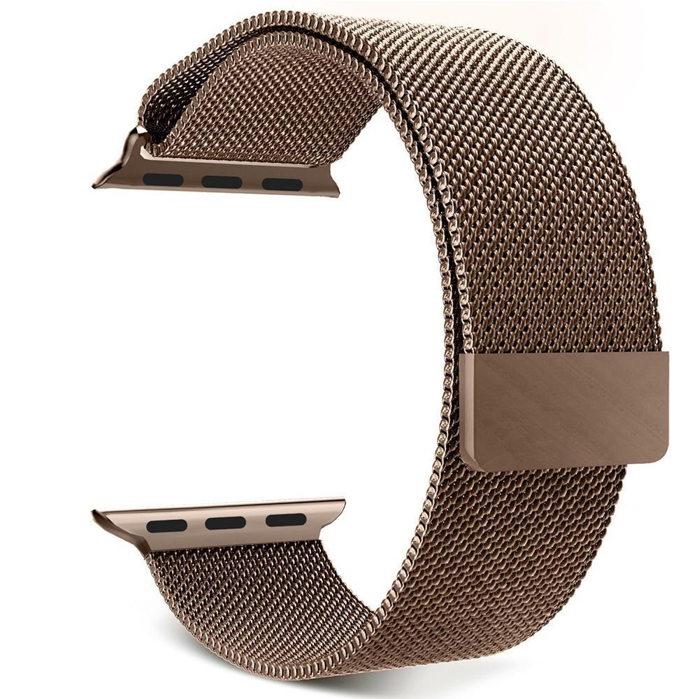 niceEshop 42mm Milanese Magnetic Loop Stainless Watch Band Strap Leather Loop For Apple .