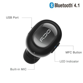 niceEshop Bluetooth Headset, KOBWA Q26 Mini Invisible Earpiece In Ear V4.1 Wireless Bluetooth Car Headset Headphone Earbud Earphone With Microphone Hands Free Calls For IPhone And Android Smart Phones - intl - 5