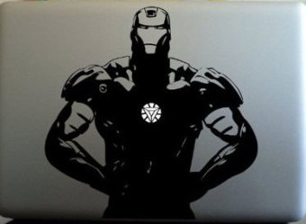 niceEshop Ironman Triangle Chest Vinyl Decal Sticker For AppleMacbook