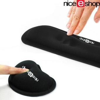 niceEshop Keyboard Wrist Rest Pad And Mouse Gel Wrist Rest Support,Ergonomic Wrist Cushion Support With Memory Foam For Computer AndLaptop - intl
