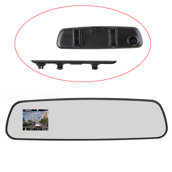 niceEshop Vehicle Car Camera Video Recorder Rear View Mirror Camcorder DVR (Black)