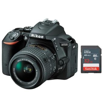 Nikon D5500 SLR Camera + 18-55mm AF-S VR II Lens - Sandisk 32GB SD Bundle - intl