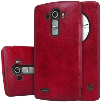 Nillkin QIN Series leather Case 360 degree protection case for LGG4 with retail package (Red) - intl