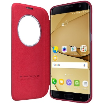 Nillkin QIN Series leather Case 360 degree protection case forSamsung Galaxy S7 edge with retail package (Red) - intl Price Philippines