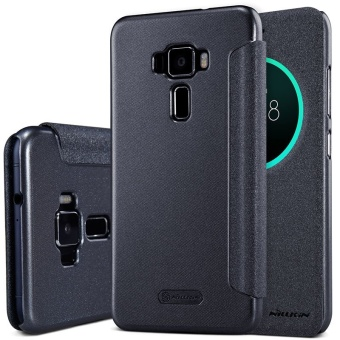 NILLKIN sparkle PU leather flip cover for Asus Zenfone 3(ZE552KL)with retail package (Black) - intl Price Philippines