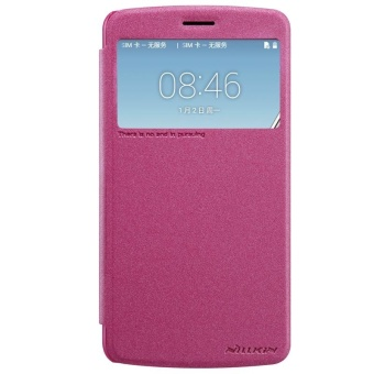 NILLKIN sparkle PU leather flip cover for LG Stylus 3 M400dy M400dkwith retail package (Red) - intl
