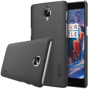 NILLKIN Super Frosted Shield Hard PC Case for OnePlus 3T / 3 withScreen Protector - Black - intl