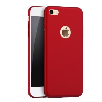 NingMao Smoothly Shield Skin Shockproof Ultra Thin Slim Full Body Protective Scratch Resistant Case for iPhone 6 Plus / 6s Plus (Silky Red) - intl Price Philippines