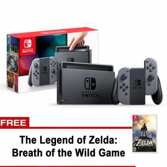 Nintendo Switch with Gray Joy-Con with free The Legend of ZeldaBreath of the Wild Game