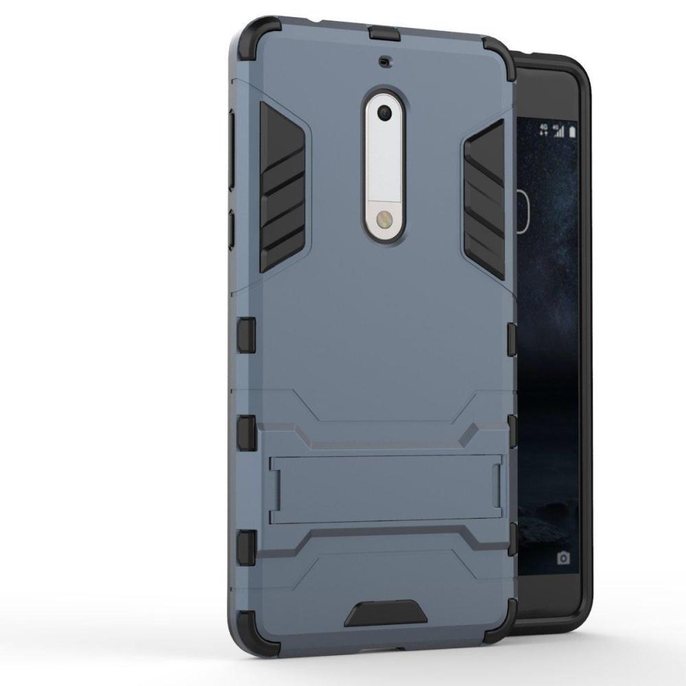 Nokia 5 Case 2 in 1 Hybrid Heavy Duty Armor Hard Back Cover .