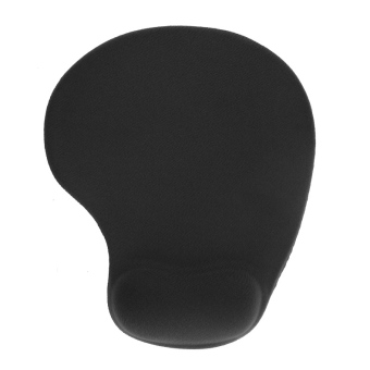 Non-slip Backing Mouse Pad Mat Comfort Gel Wrist Support for PC Laptop Black