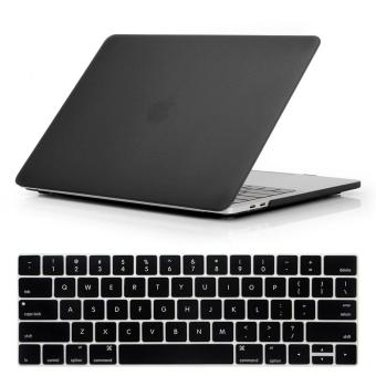 NORTHJO 2 in 1 Rubberized Protective Matte Hard Shell Case andKeyboard Cover for Apple Macbook Pro 13 Inch with / without TouchBar and Touch ID - Model: A1706 and A1708 (Black) - intl