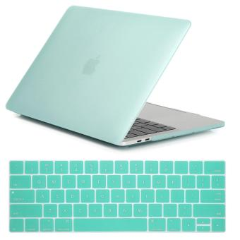NORTHJO 2 in 1 Rubberized Protective Matte Hard Shell Case andKeyboard Cover for Apple Macbook Pro 13 Inch with / without TouchBar and Touch ID - Model: A1706 and A1708 (Green) - intl